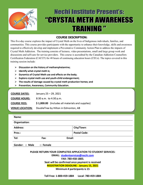 Crystal Meth Awareness Training Flyer